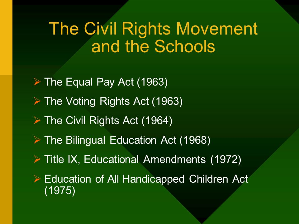 The Civil Rights Movement and the Schools