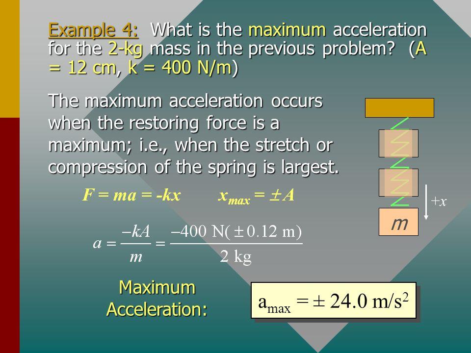 Maximum Acceleration: