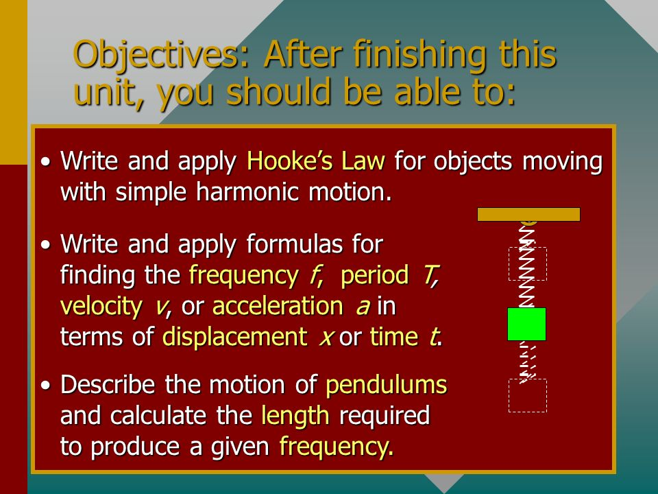 Objectives: After finishing this unit, you should be able to: