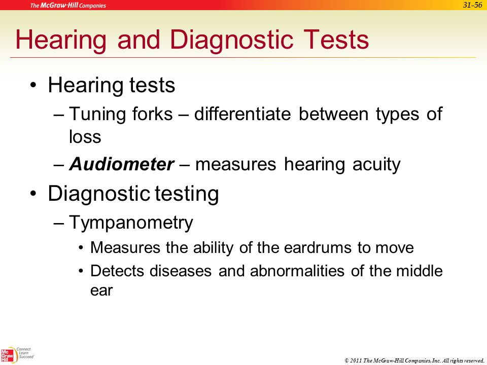 Hearing and Diagnostic Tests