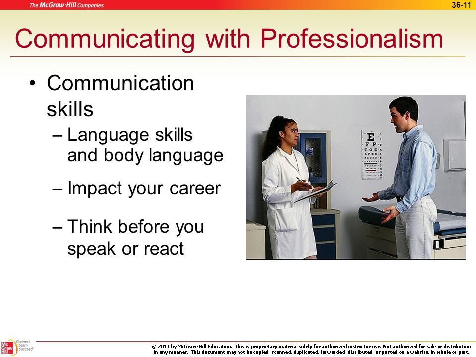 Communicating with Professionalism
