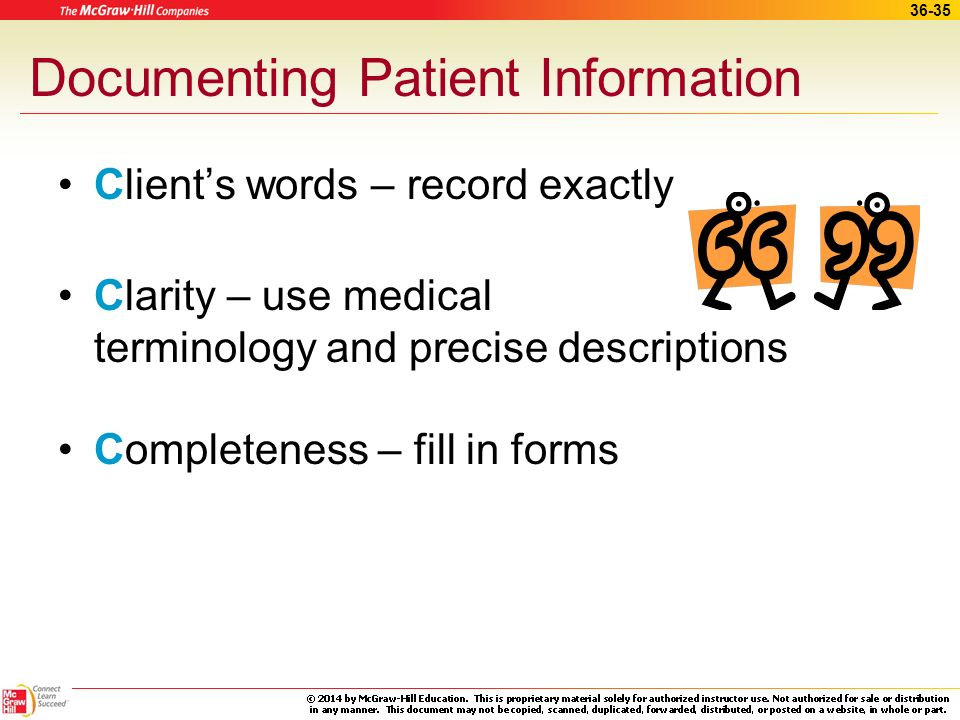 Documenting Patient Information