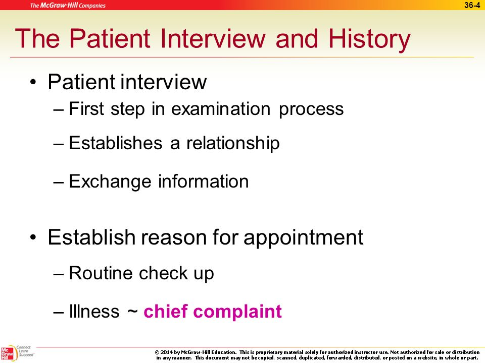 The Patient Interview and History