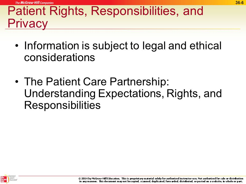 Patient Rights, Responsibilities, and Privacy