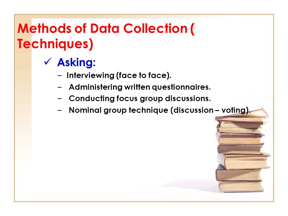 Data collection methods for research papers