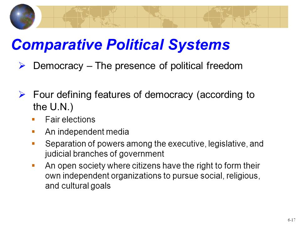 Comparative Political Systems
