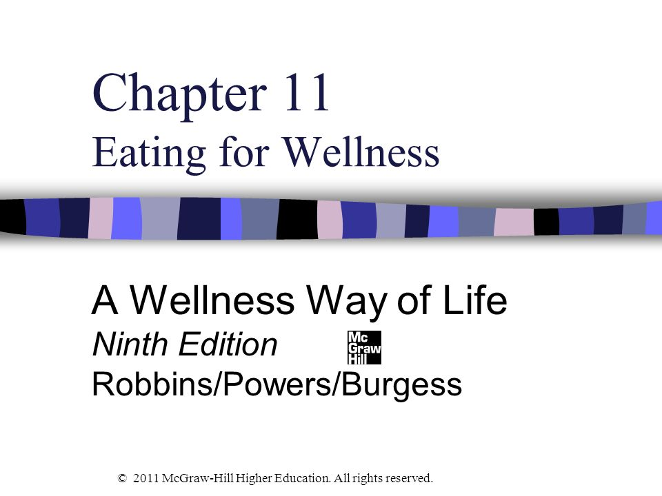 Chapter 11 Eating for Wellness