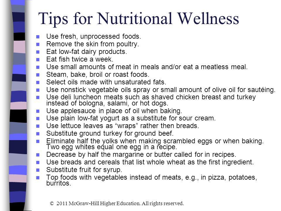 Tips for Nutritional Wellness