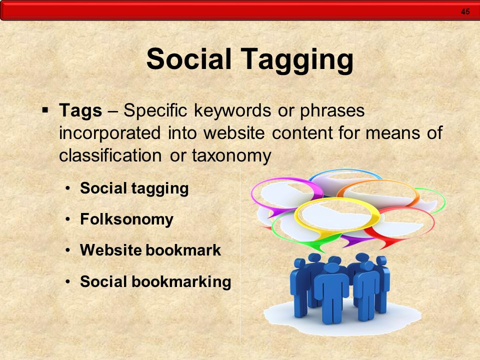 Social Tagging Tags – Specific keywords or phrases incorporated into website content for means of classification or taxonomy.