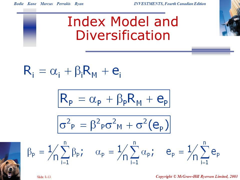 Index Model and Diversification