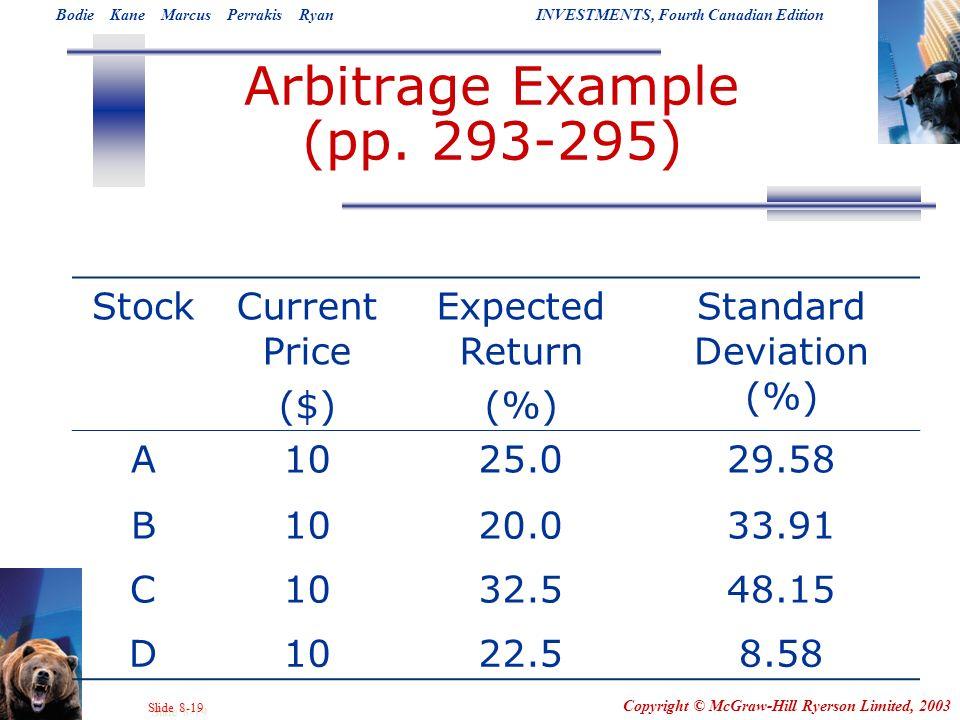 Arbitrage Example (pp. 293-295)