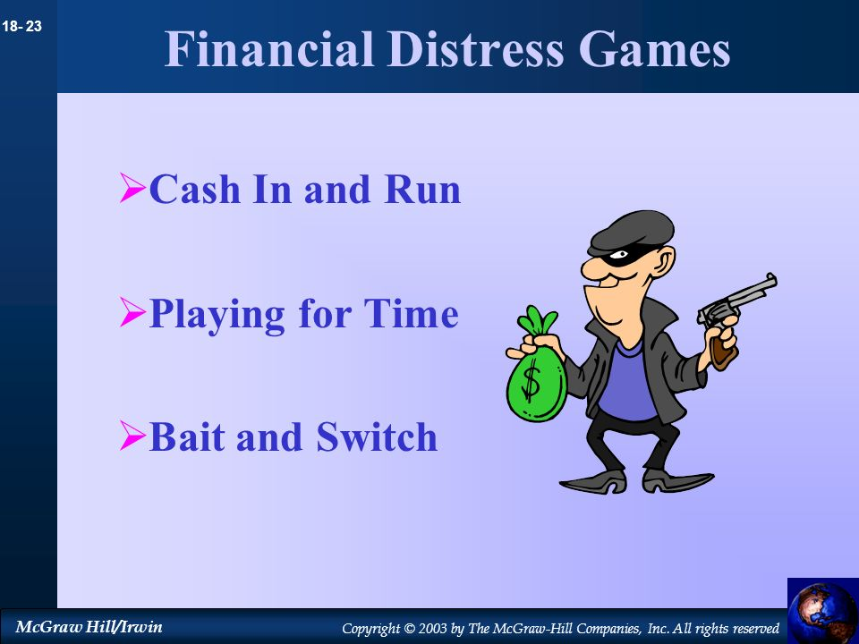 Financial Distress Games
