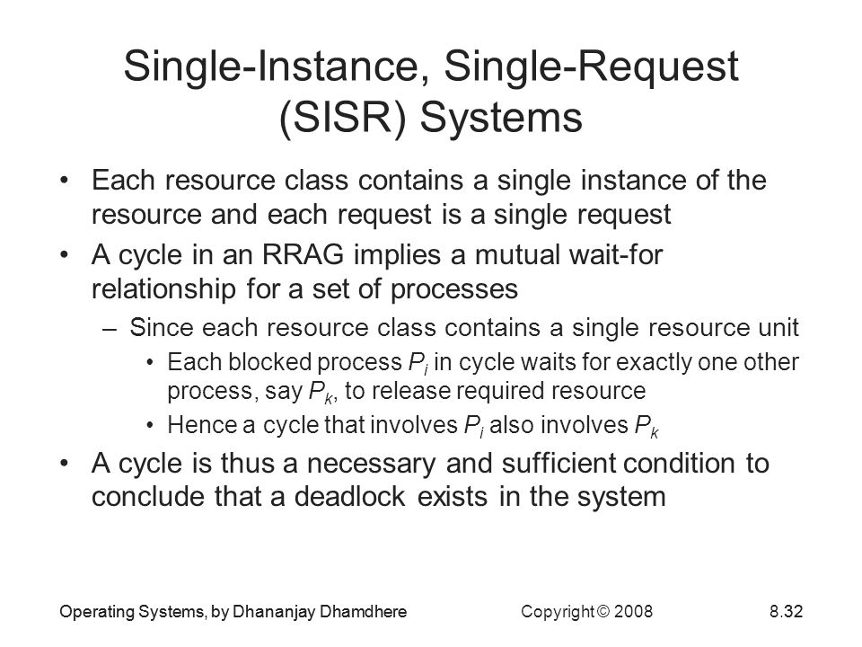 Single-Instance, Single-Request (SISR) Systems