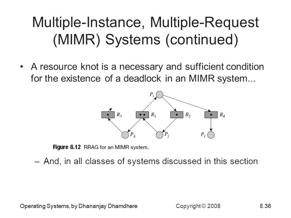 Multiple-Instance, Multiple-Request (MIMR) Systems (continued)