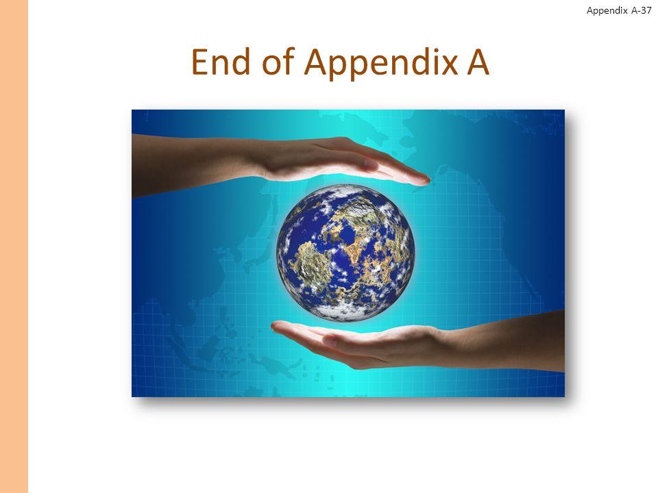 End of Appendix A End of appendix A.