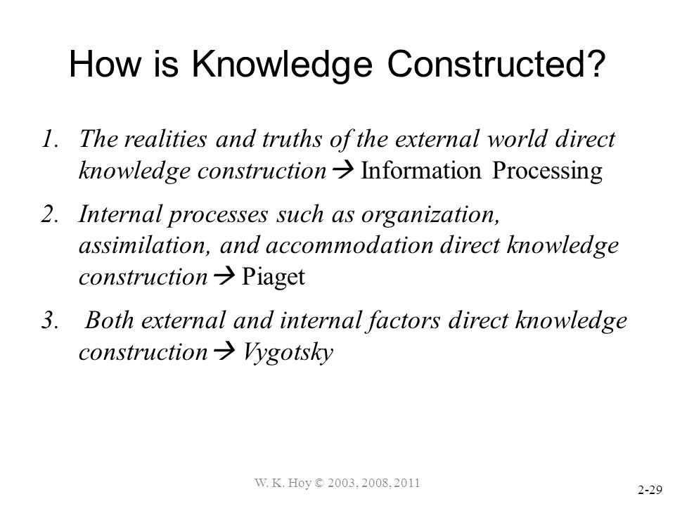 How is Knowledge Constructed