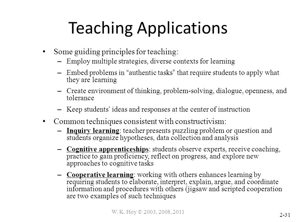 Teaching Applications