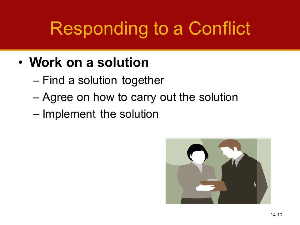 Responding to a Conflict