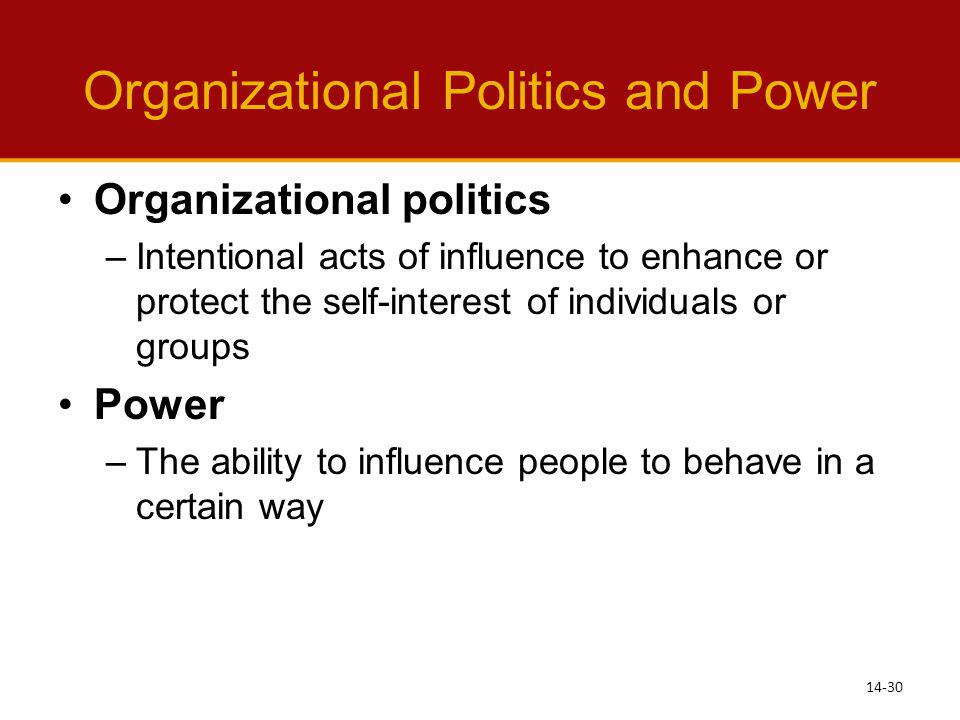 organizational power and politics essay