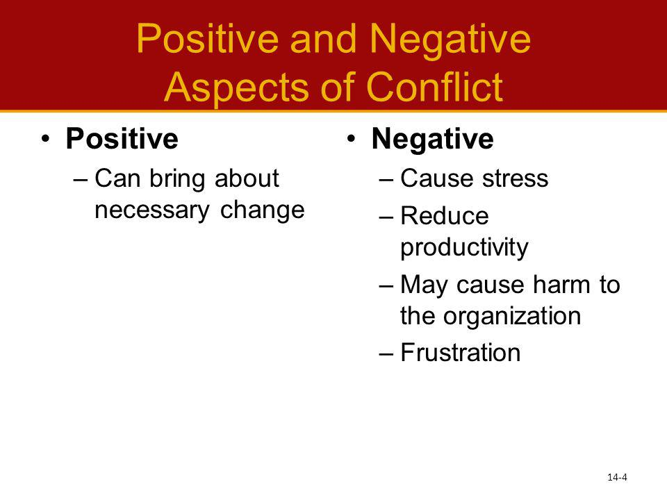 Positive and Negative Aspects of Conflict