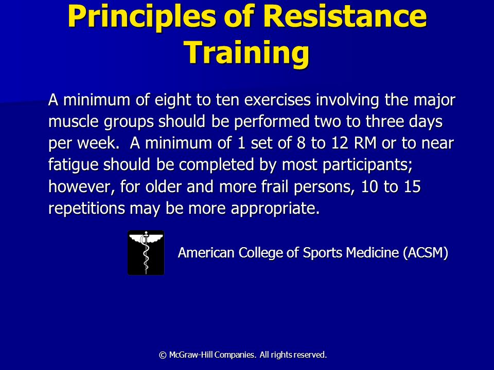 Principles of Resistance Training