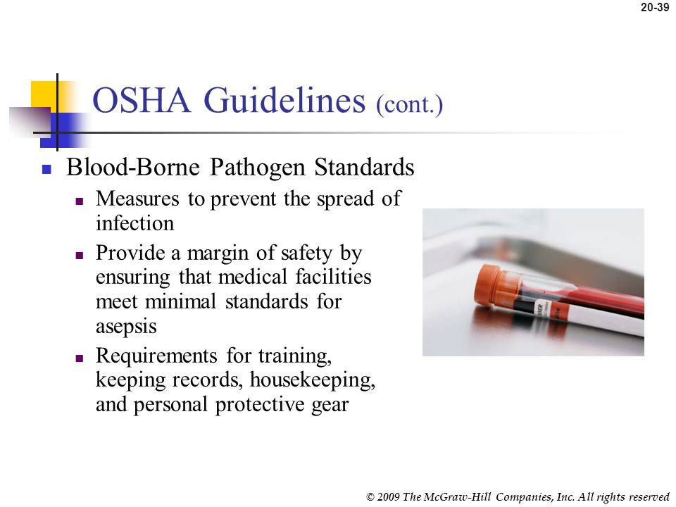 OSHA Guidelines (cont.)