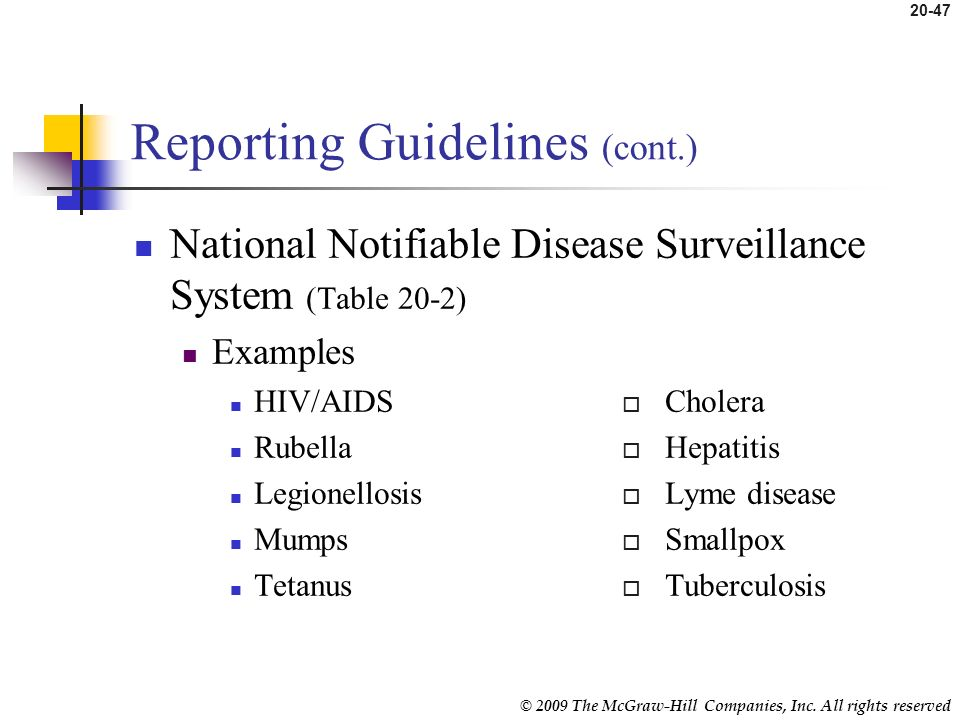 Reporting Guidelines (cont.)