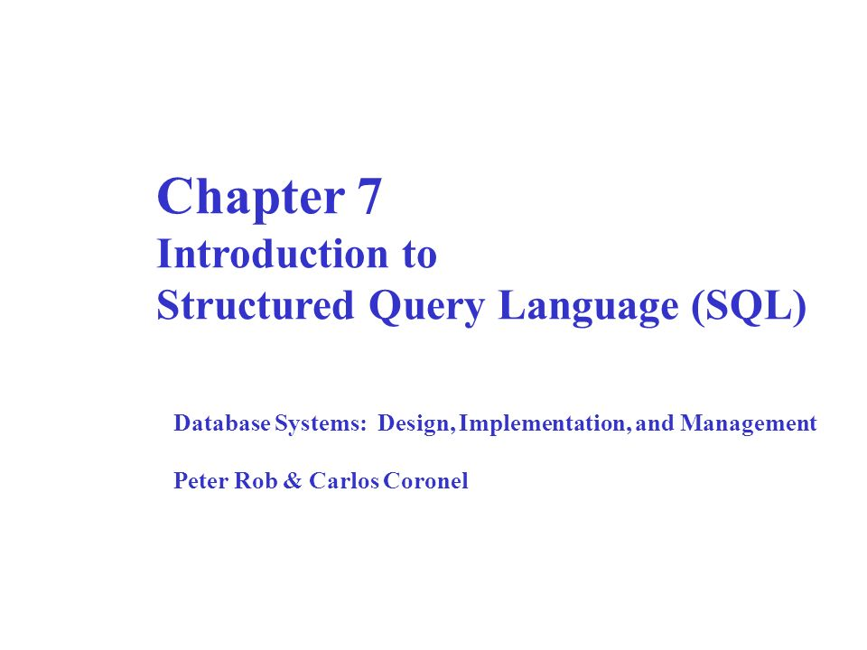 understanding structured query language The definition of sql defined and explained in simple language.