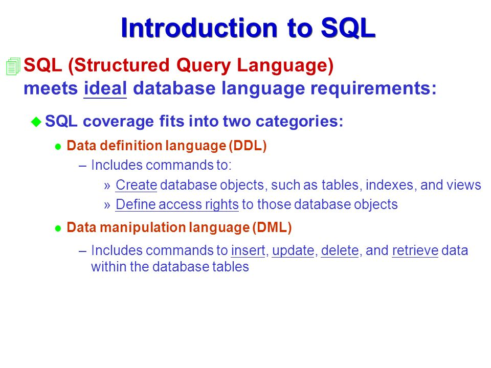 structure query language Structured query language (sql) test integrates into sql server management studio and allows the programmer to create and run unit tests against databases this technology leverages the open-source tsqlt framework, a set of t-sql tables, views, stored procedures, and functions sql test allows users to write their own test code.