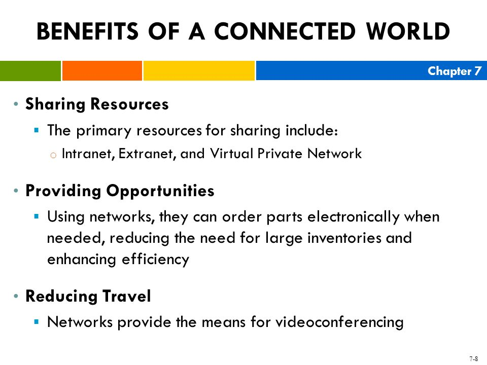 BENEFITS OF A CONNECTED WORLD