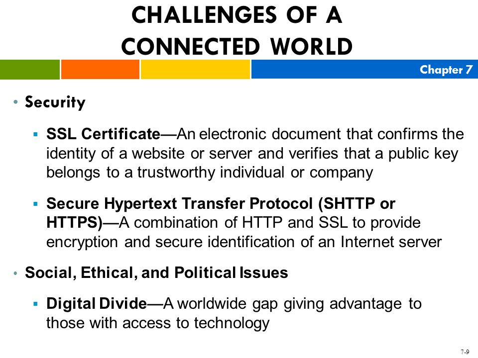 CHALLENGES OF A CONNECTED WORLD