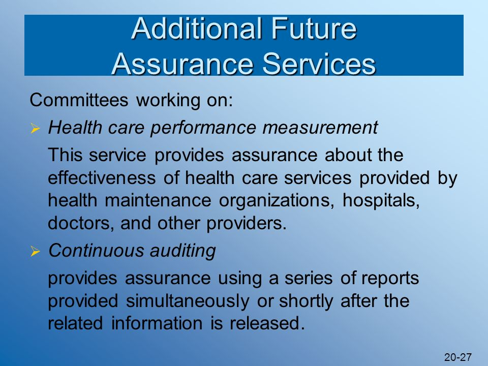 Additional Future Assurance Services