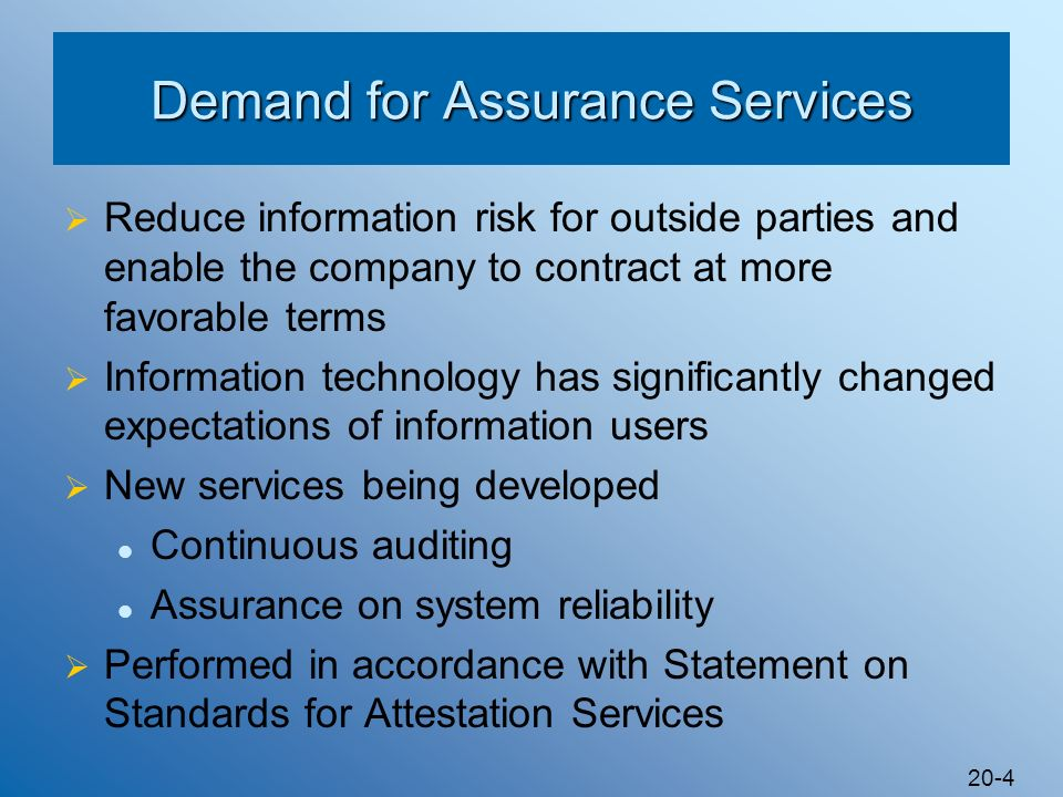 Demand for Assurance Services