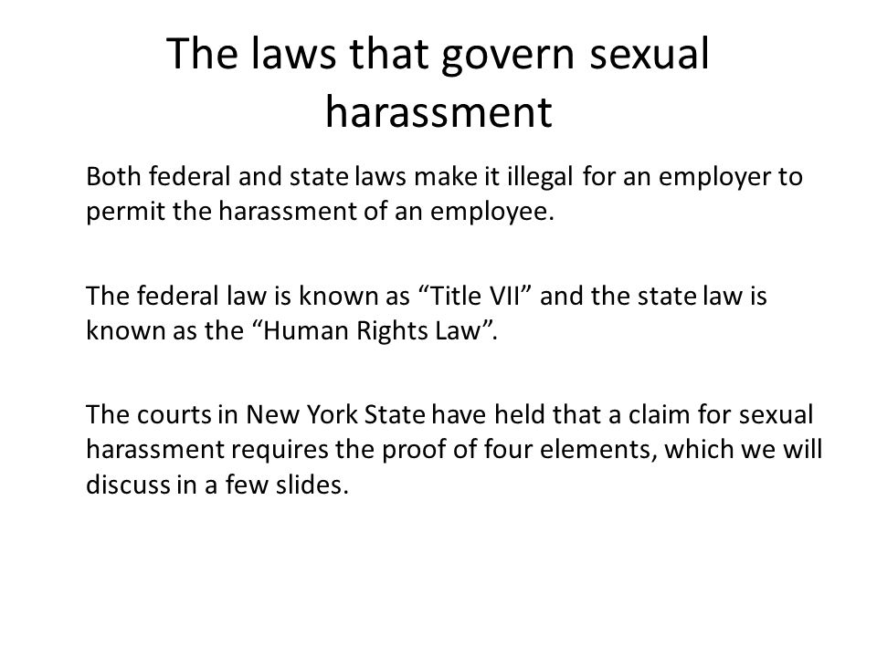 Illinois state law sexual harassment