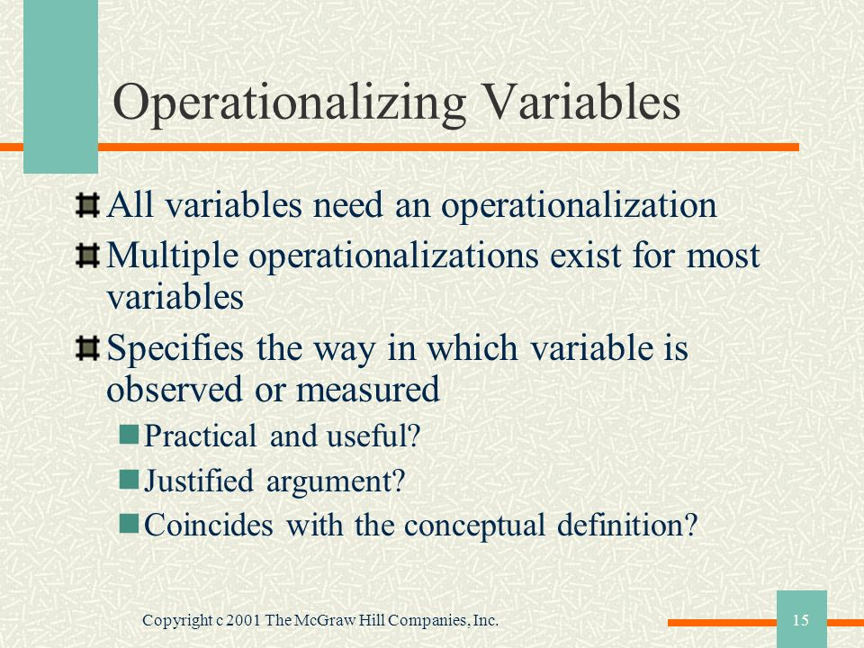 Operationalizing Variables