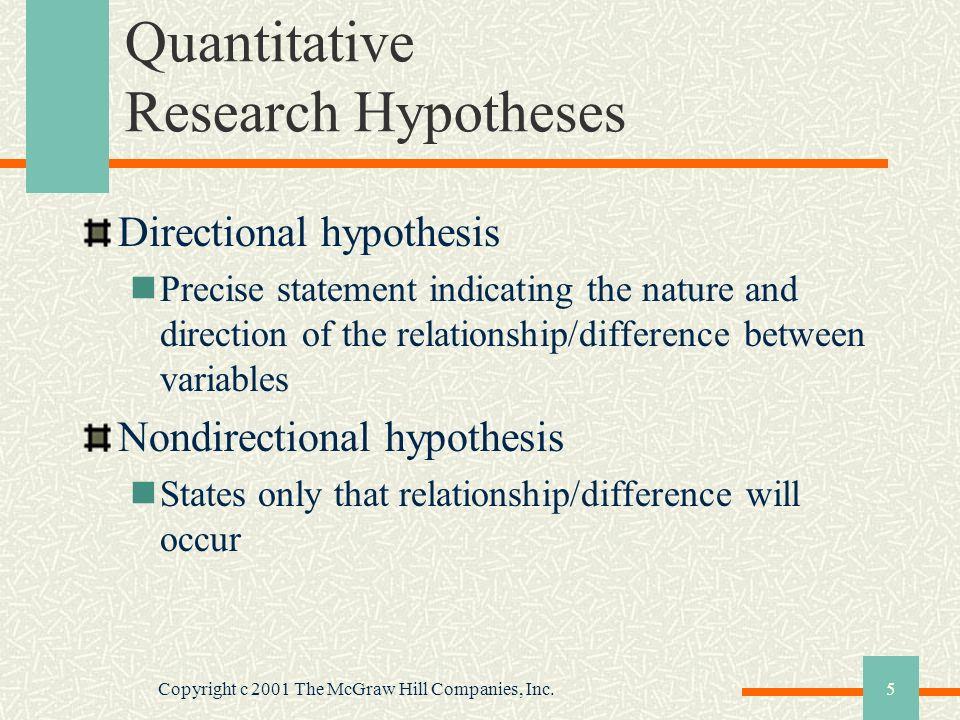 Quantitative Research Hypotheses