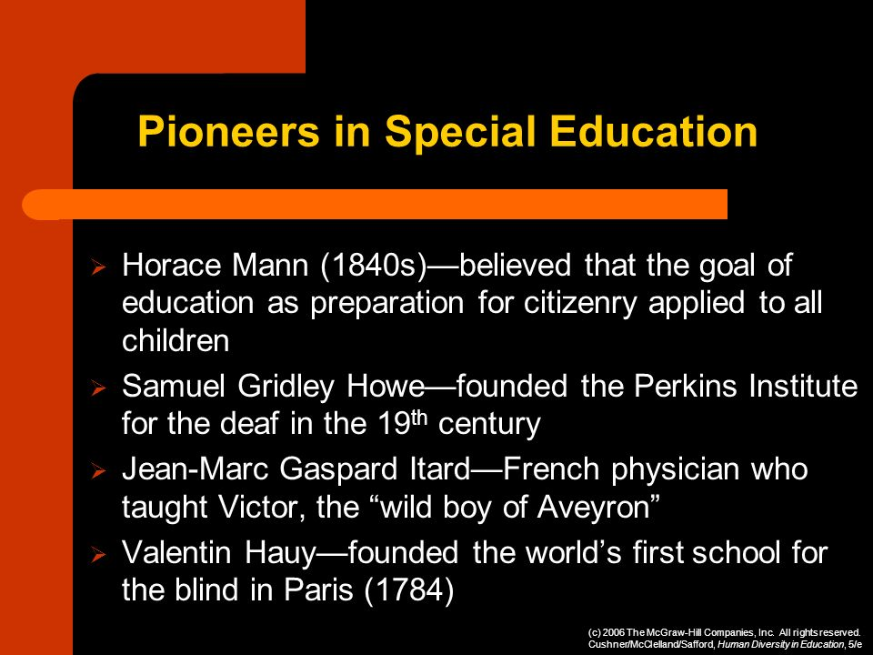 Pioneers in Special Education