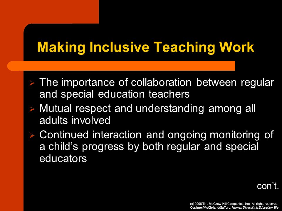 Making Inclusive Teaching Work