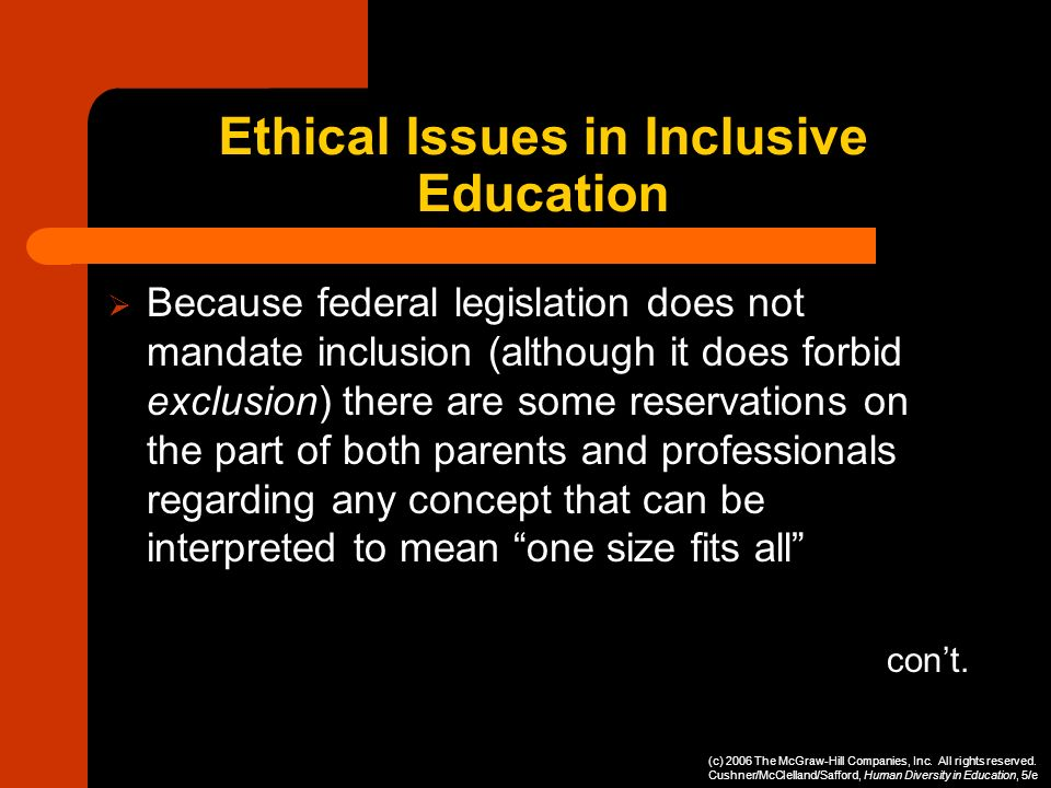 Ethical Issues in Inclusive Education