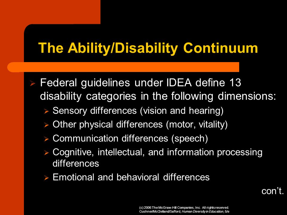 The Ability/Disability Continuum