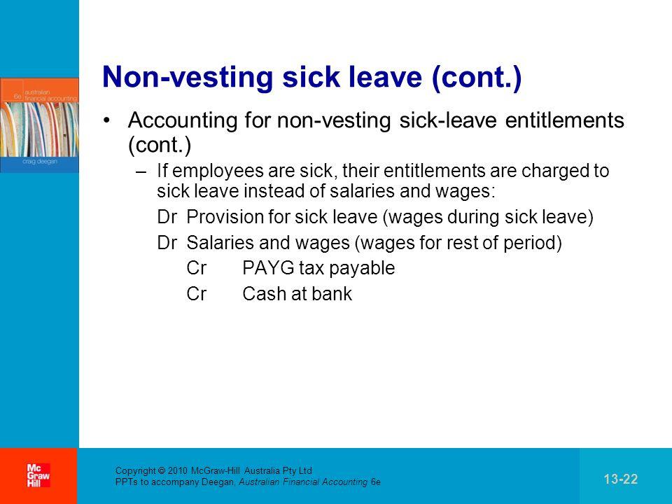 Non-vesting sick leave (cont.)