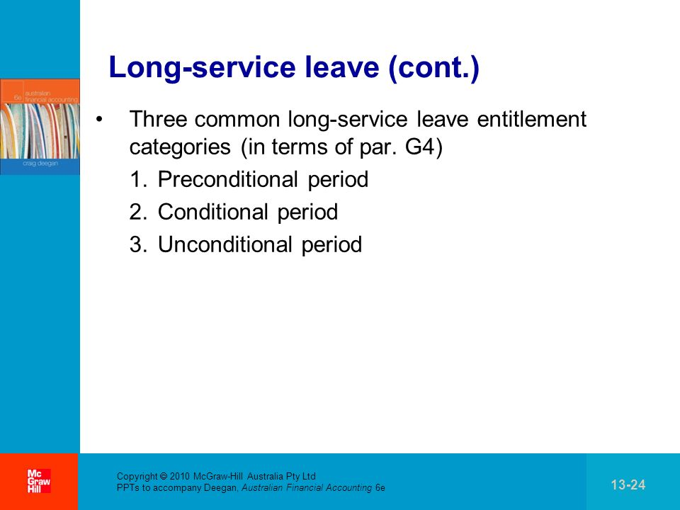 Long-service leave (cont.)