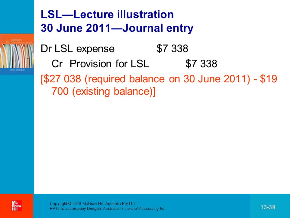 LSL—Lecture illustration 30 June 2011—Journal entry