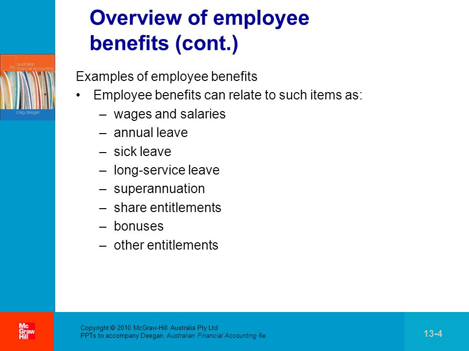 Overview of employee benefits (cont.)