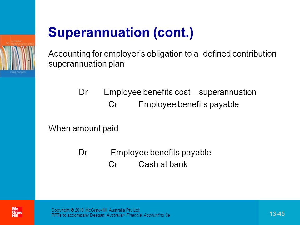 Superannuation (cont.)
