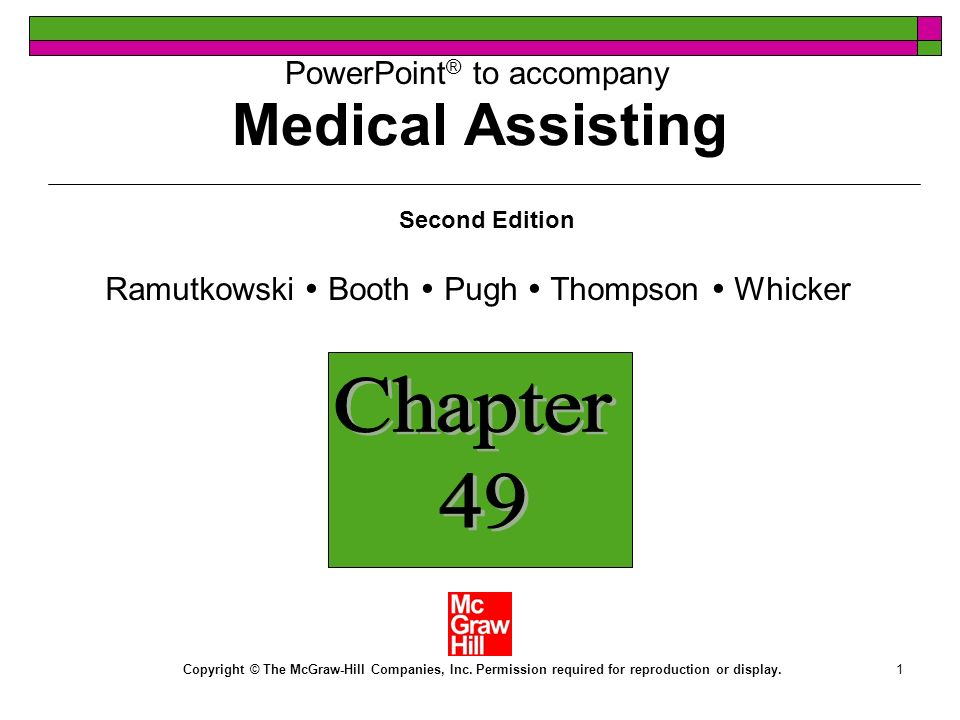 Medical Assisting Chapter 49