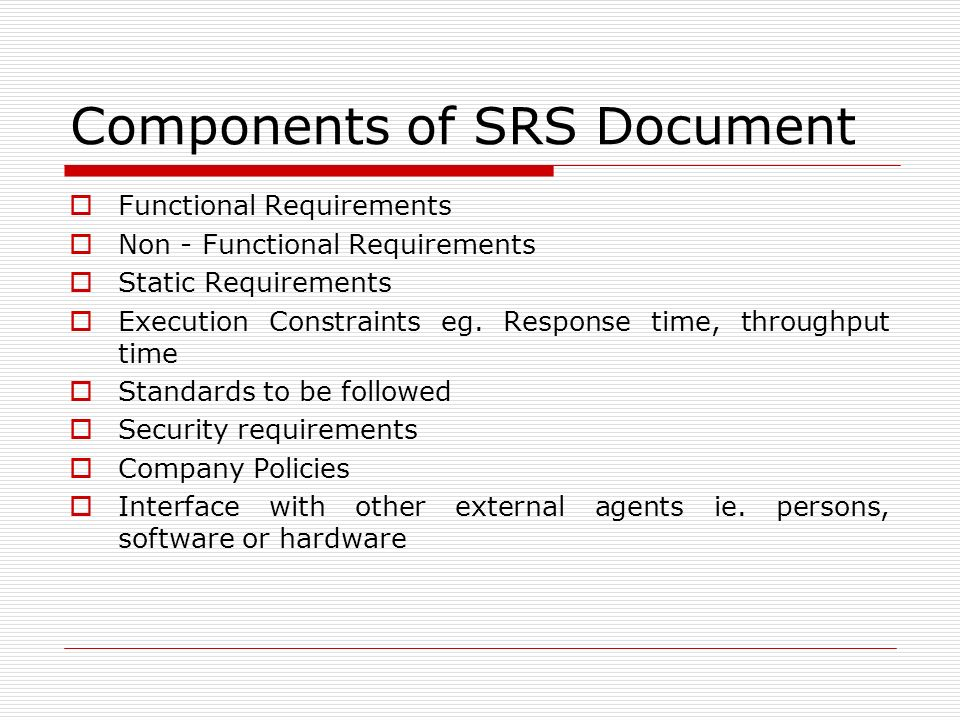 Unit-Ii Chapter : Software Requirement Specification(Srs) - Ppt