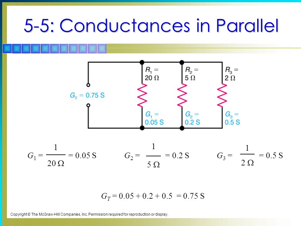 5-5: Conductances in Parallel