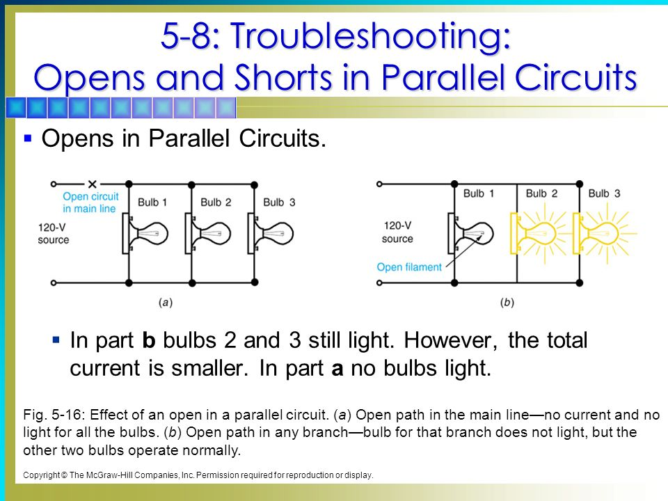 5-8: Troubleshooting: Opens and Shorts in Parallel Circuits