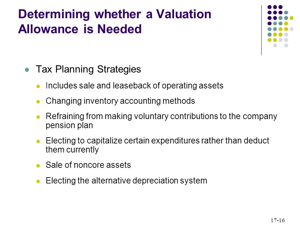 Determining whether a Valuation Allowance is Needed